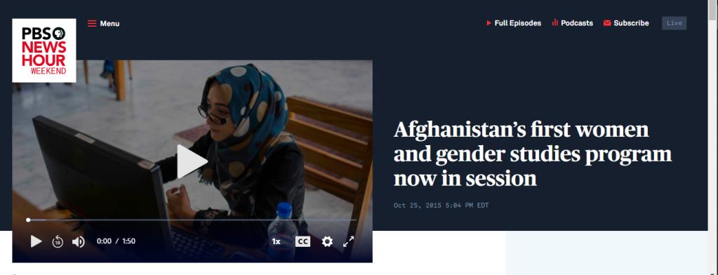 Primo corso di gender studies aperto a Kabul